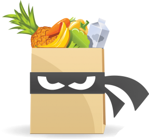 grocery bag only logo